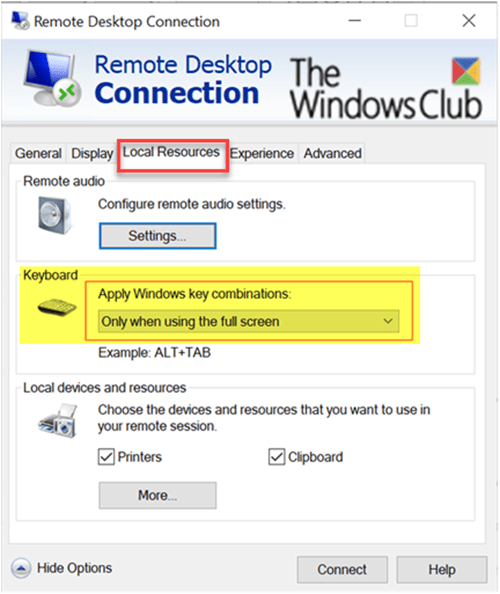 Windows key acts like it is stuck after switching from Remote Desktop session
