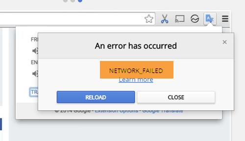 Fix NETWORK_FAILED error in Chrome browser