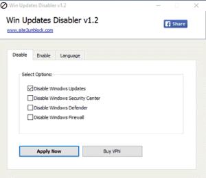 Free tools to Block Automatic Windows 10 Updates