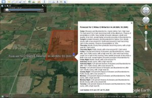 How to view Live Weather Forecast on Google Earth