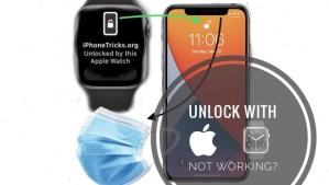 how to fix unlock with apple watch not working