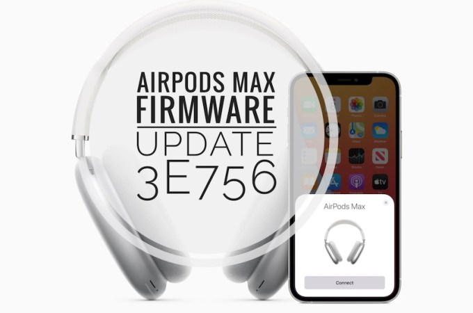 how to update airpods max firmware to version 3e756