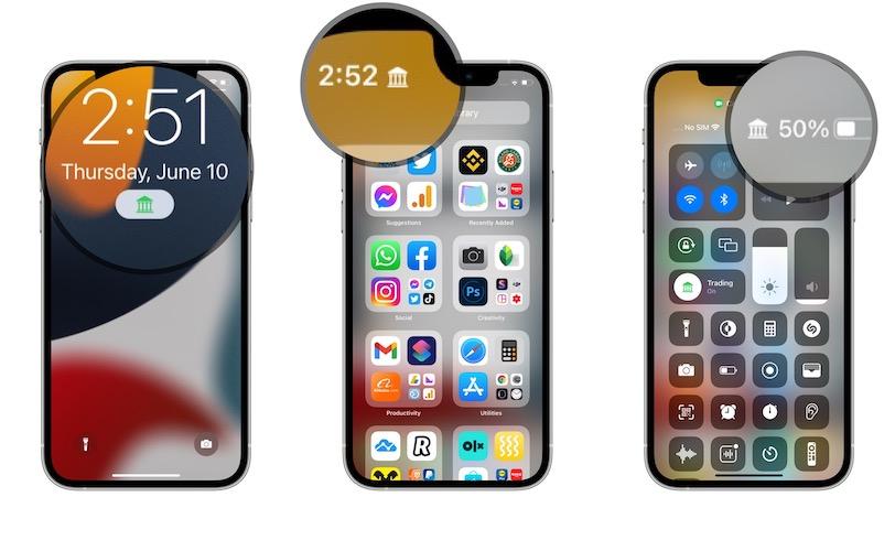 Focus icons in iOS 15