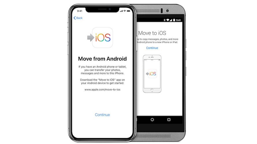 how to set up a new iphone from android