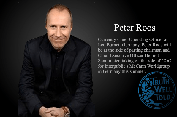 Peter Roos, COO, McCann Germany.