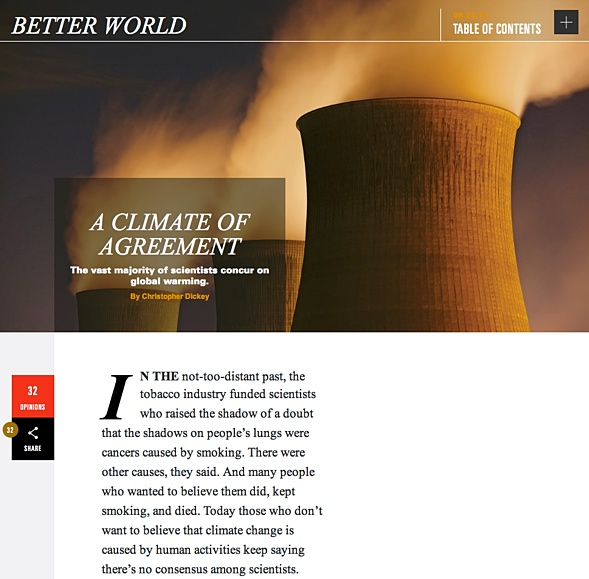 BETTER WORLD A climate of agreement