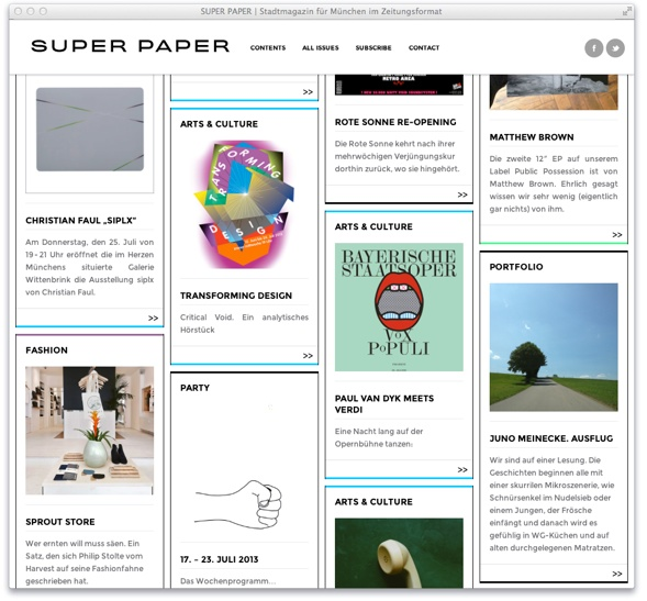 Redesign of Munich's Super Paper online.