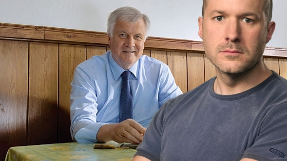 Two designers photoshopped: Bavaria's minister-president Horst Seehofer and Apple's Jonathan Ive