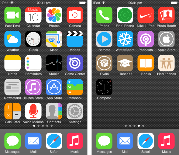flat iOS icons Image courtesy of MacRumors user cobbyco.