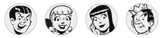 Archie Andrews, Betty Cooper, Veronica Lodge, Jughead Jones, Reggie Mantle