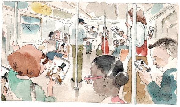 mobile first illustration by Barry Blitt.