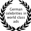 German celebrities in world class ads