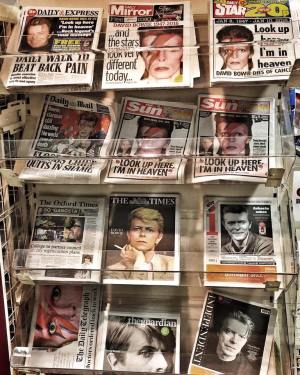 Luke Fraser took this photo of newspaper and tabloids at a grocery store in the UK