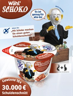 "Ballot paper ""Vote for chocolate"" (Wolle Schwäble alias Wolfgang Schäuble)"