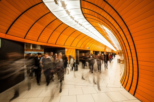 Marienplatz smack in the center of Munich town was the first station to disrupt the standard design prior to the 90s. - Photo: Florian Peljak
