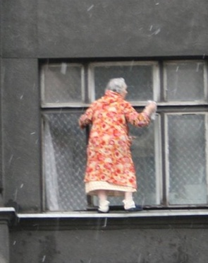 Idiosyncratic Manhattan window cleaning