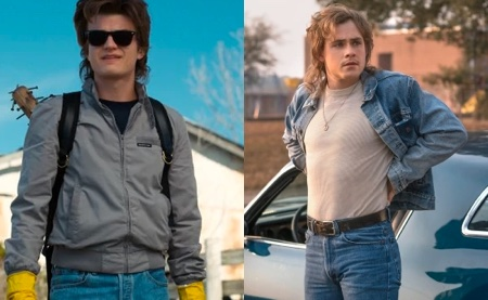 High School bullies, Steve Harrington (Joe Keery) and Billy Hargrove (Dacre Montgomery)