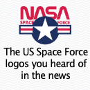 The logos the Trump campaign is offering the Space Force and another unsolicited proposition by lesss.co, a small design firm in Munich, Germany.