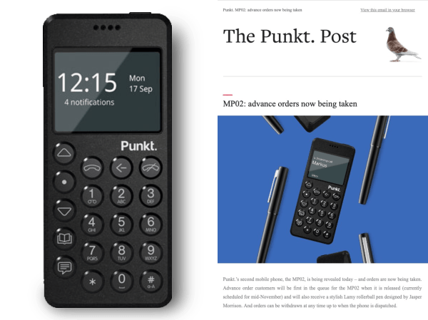 Punkt Tronics introduces their next Swizz made cell phone.