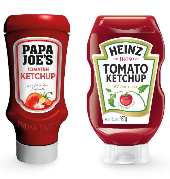 Edeka's Papa Joe's branded ketchup replaces Heinz Tomato Ketchup in their chain of supermarket's shelves.