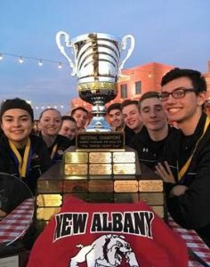 rifle team with trophy