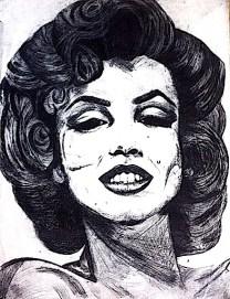 Marilyn zinc print/ink