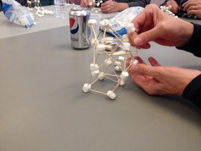 Building with toothpicks