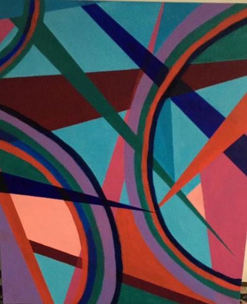 Judith L Silverstein's Wheels of Change Acrylic on canvas