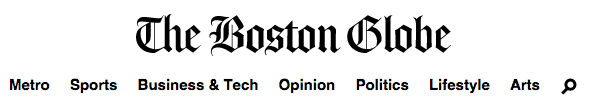 Boston Globe Header