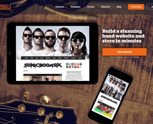 best band website builder for musicians