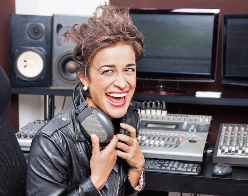 Picture of Female Musician Successfully Licensing Her Music