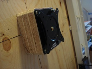 VESA mount in place