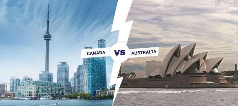 Canada vs Australia comparativo de imigracao