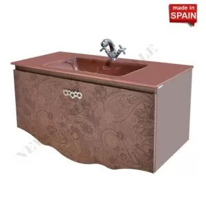 32 inch modern bathroom vanity cabinet cher color brown