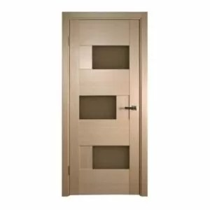 """Dominika"" Bleached Oak Interior Door with Bronze Glass"