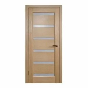 """Tokyo"" White Oak Interior Door with Frozen Glass"