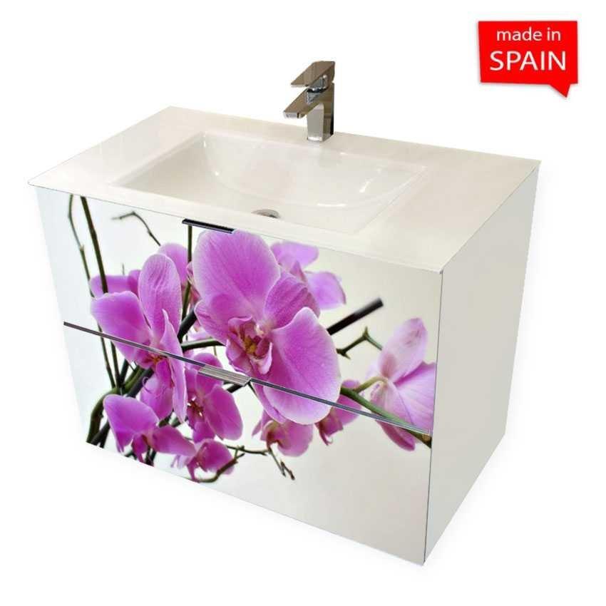socimobel 28 flower wall mount bathroom vanity glass sink