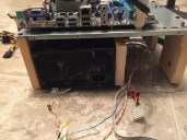 Back of PSU in DIY Test Bench and PC Switch Cords