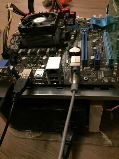 Kodi Box PC Build on a DIY PC Test Bench Back View