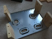 Legs all Screwed into the DIY Test Bench Kodi Build Case