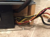 Power Supply Cords inside DIY Test Bench