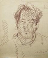 Self-portrait, '77, conte