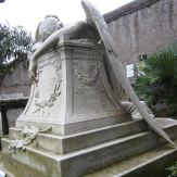 Very famous, tragic statute used as a grave marker around the world.