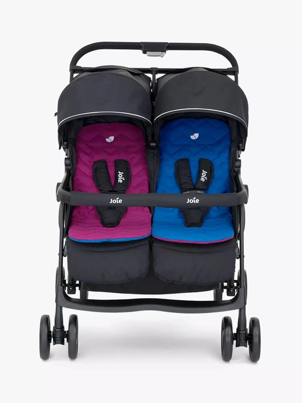 joie aire double stroller rosy and sea