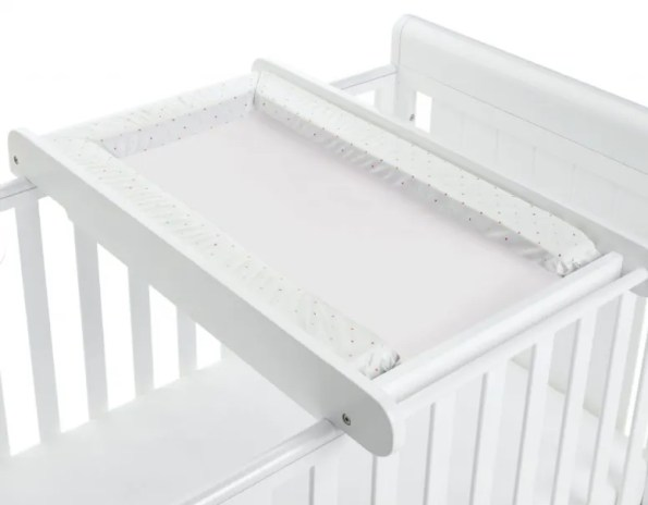 white cot changer