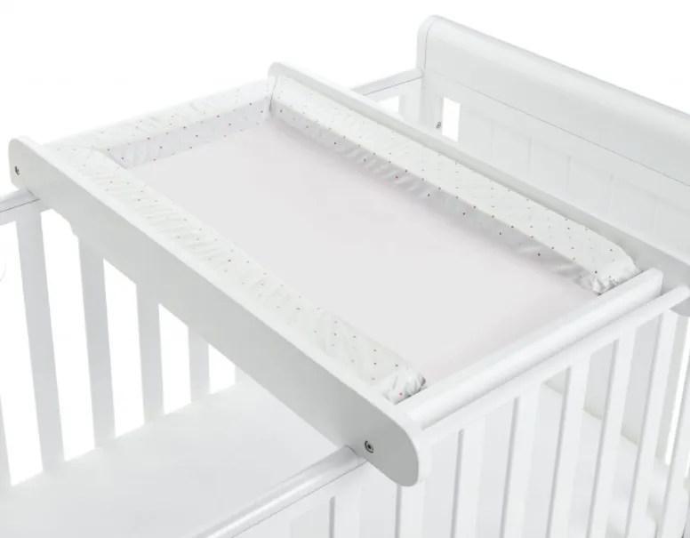 white cot changer