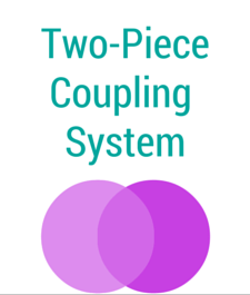 Ostomy Two Piece Coupling System