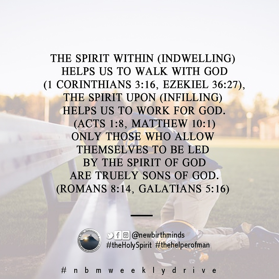 THIS WEEK DRIVE – THE SPIRIT WITHIN AND THE SPIRIT UPON