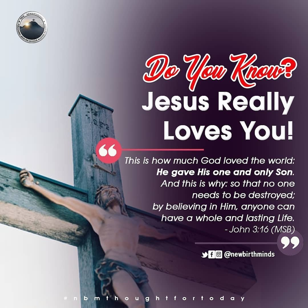 TFT: JESUS REALLY LOVES YOU, HE GAVE UP HIS LIFE SO THAT WE CAN RECEIVE HIS LIFE