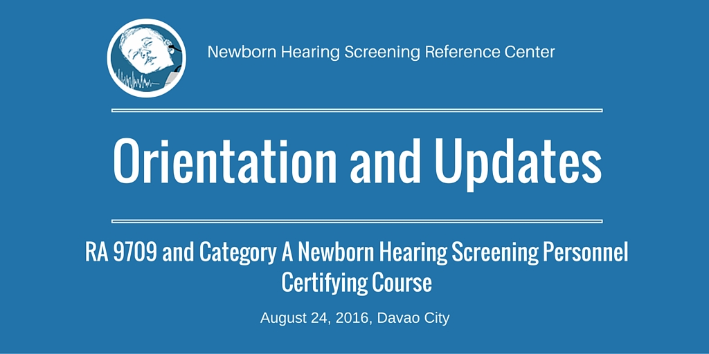 Orientation, Updates & Certifying Course in Davao City